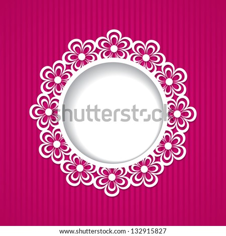 background with a floral frame - stock vector