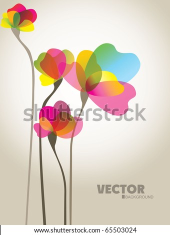 Background with a flowers - stock vector