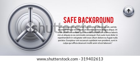 Background with a safe and and lock and place for text. Vector Illustration  - stock vector