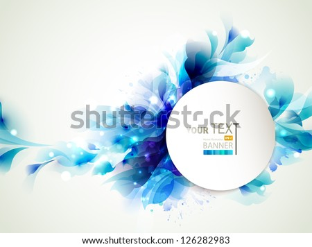 Background with Abstract blue elements - stock vector