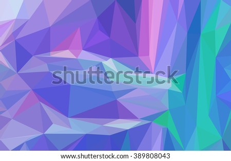 Background with Abstract Low Poly Geometrical Polygonal Colorful Pattern. Vector - stock vector