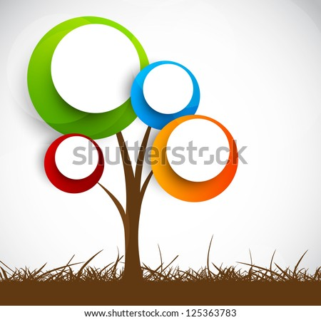 Background with abstract tree - stock vector