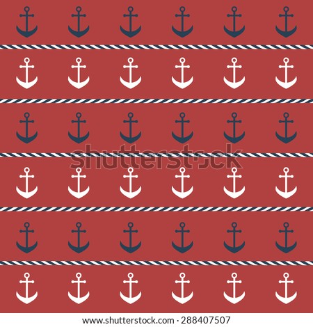 background with anchors - stock vector