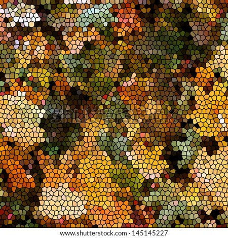 Background with autumn leaves mosaic - stock vector