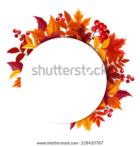 Background with autumn leaves. Vector eps-10. - stock vector