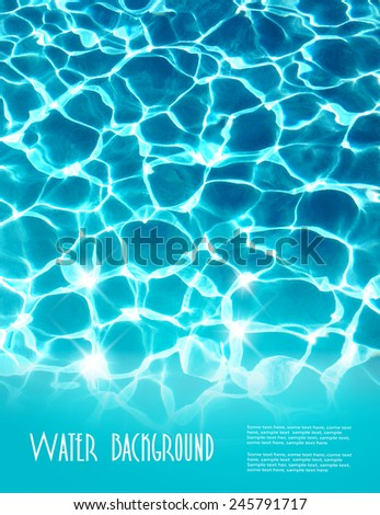 Background with beautiful sea water. Vector. - stock vector