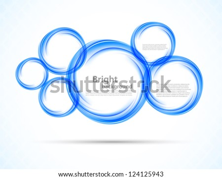 Background with blue circles. Abstract illustration - stock vector