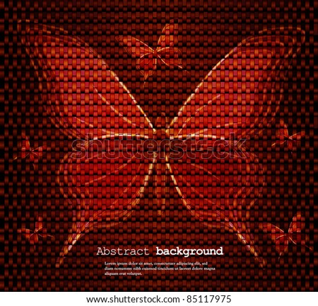 background with butterfly. Vector illustration - stock vector