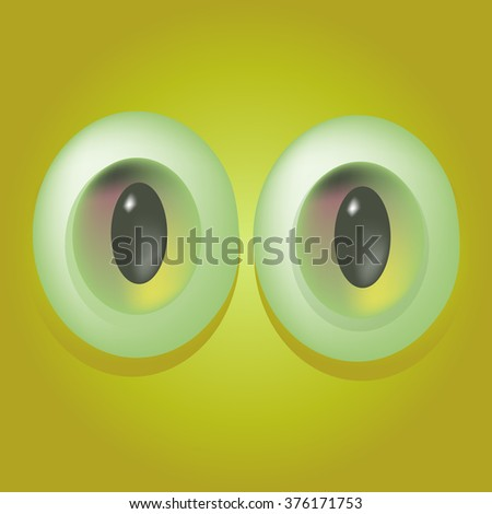 Background with cartoon monster eyes. Eps 10 - stock vector