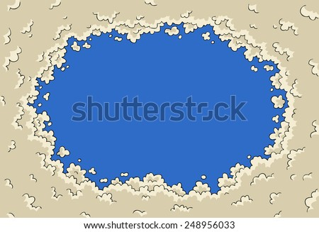Background with clouds of heaven vector illustration - stock vector