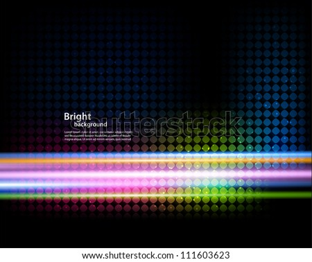 Background with colorful lines - stock vector