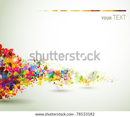 background  with decorative composition - stock vector