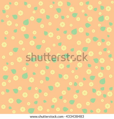 Background with floral ornament in pastel tones. - stock vector