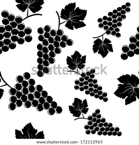 Background with grapes - stock vector