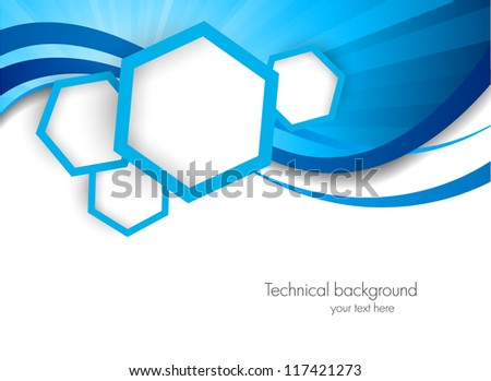 Background with hexagons - stock vector