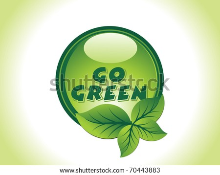 background with isolated go green icon - stock vector