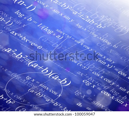 Background with mathematical formulas. Eps 10 - stock vector