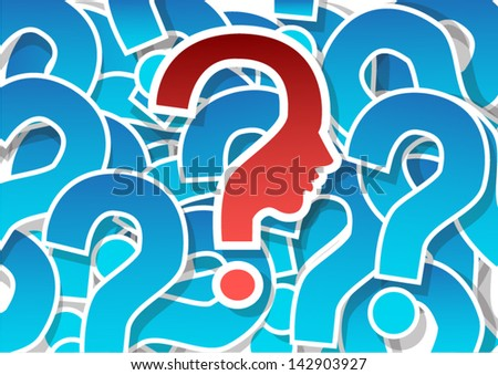 background with question mark - stock vector
