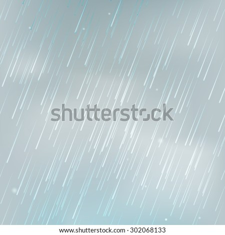 Background with rain. Eps 10 - stock vector