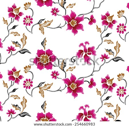 Background with red flowers. - stock vector