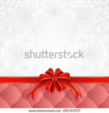 background with ribbon - stock vector