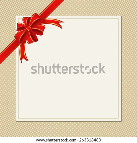 background with ribbons and bow - stock vector