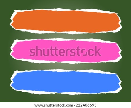 background with ripped paper   - stock vector