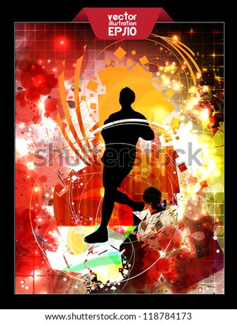 Background with runner - stock vector