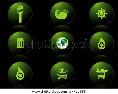 background with set of icons, vector illustration - stock vector