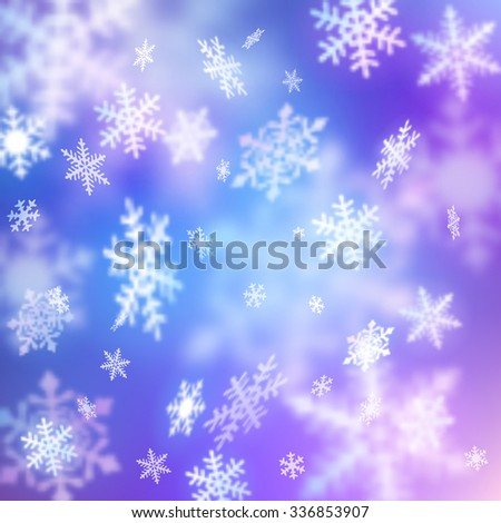 Background with snow, EPS 10 contains transparency. - stock vector