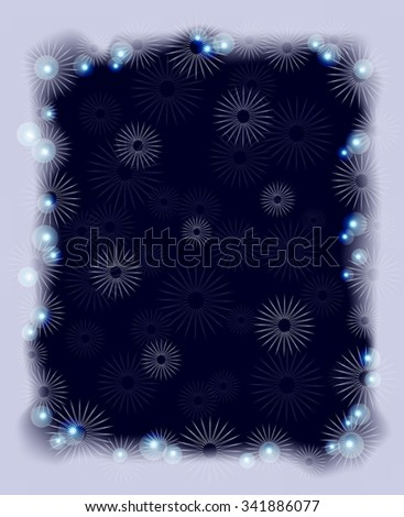 Background with snowflakes and frost for Christmas. EPS10 vector illustration. - stock vector