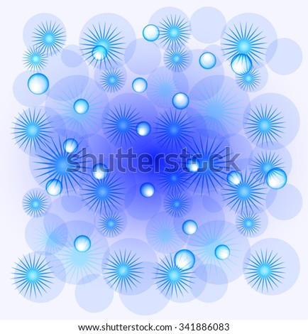 Background with snowflakes. EPS10 vector illustration. - stock vector