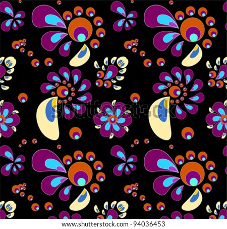 background with splats and floral elements - stock vector