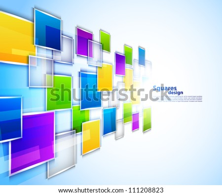 Background with squares - stock vector