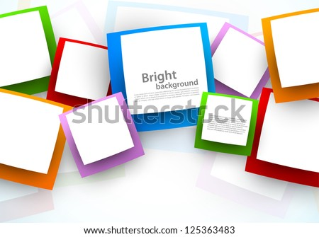 Background with squares. Abstract illustration - stock vector