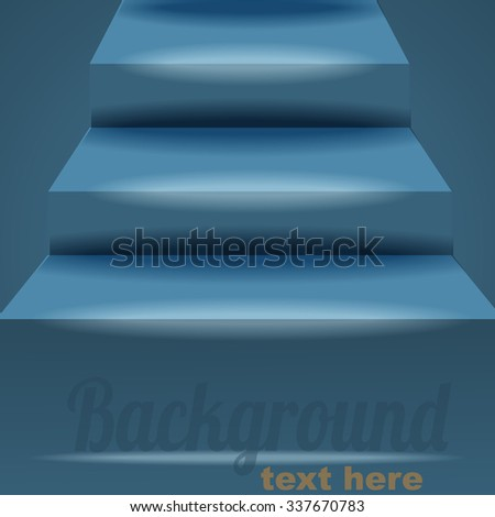 Background with stairs - stock vector