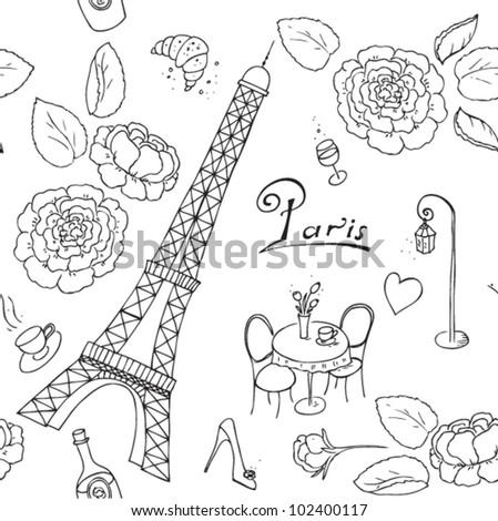 Background with stylized flowers and butterfly - stock vector