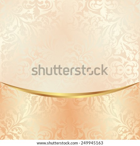 background with vintage ornaments - stock vector