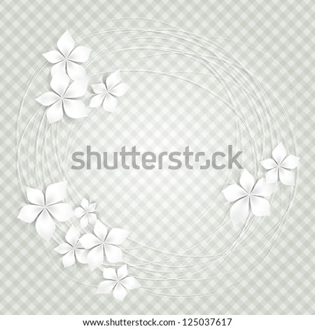 Background with white flowers - stock vector