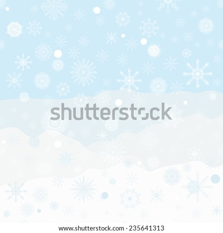 Backgrounds with snowflakes, vector illustration - stock vector