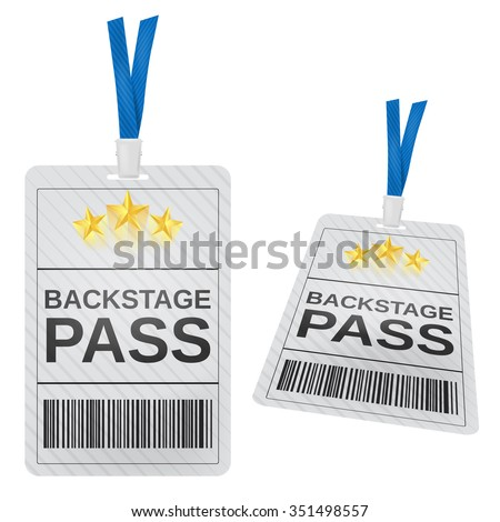 Backstage pass - stock vector