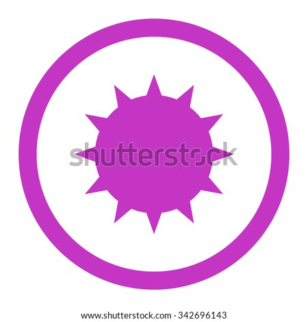 Bacterium vector icon. Style is flat rounded symbol, violet color, rounded angles, white background. - stock vector