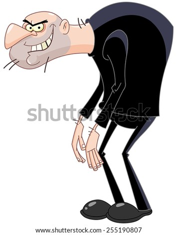 Bad man - stock vector