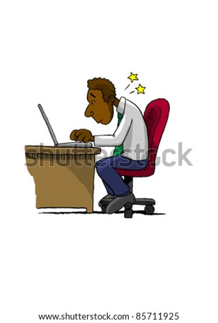 Bad Posture (Vector) - stock vector
