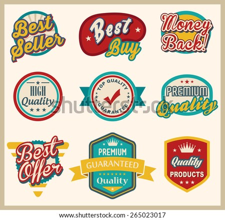 Badge and Label Collection - stock vector