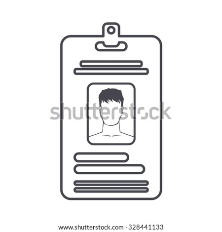 badge icon. Identification card icon - stock vector