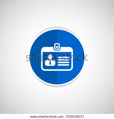 Badge ID icon - stock vector