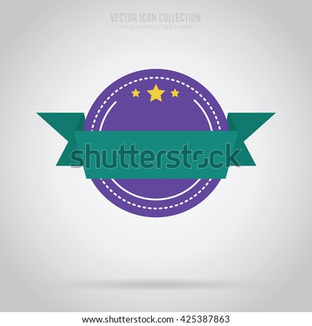 Badge isolated. Vector badge. Badge for special offer. Badge icon. Retail sign. Advertisement badge. Sale badge. Vintage, retro badge. Flat badge. Template badge. Blank badge. Round badge with stars. - stock vector