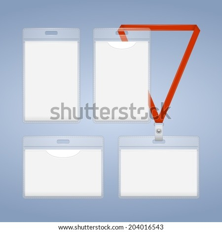 Badge template - stock vector