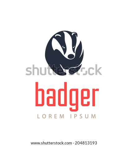 Badger Icon. Animal Emblem Vector. - stock vector